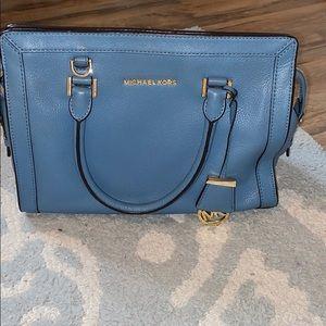 Michael Kors Tile Blue Selma Bag